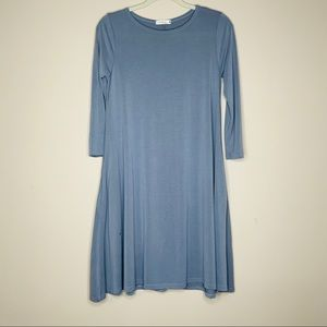 Honey & Lace || light blue swing dress soft XS
